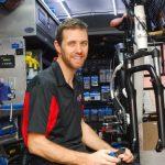 Dan Souter in the Velofix van